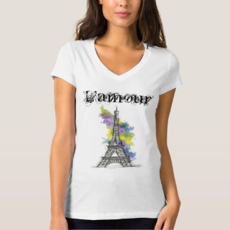 Feminine t-shirt Paris L'amour