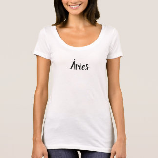 Feminine t-shirt with cuts off - Aries