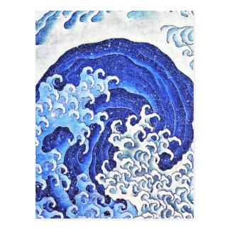 Feminine Wave by Hokusai Postcard