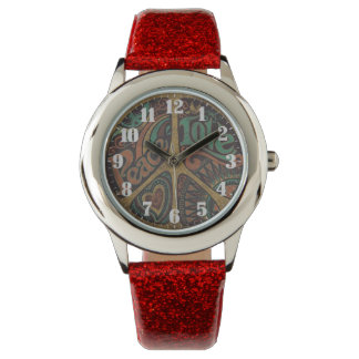 Feminine wristwatch bracelet of glitter
