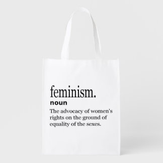 Feminism Definition Reusable Grocery Bag