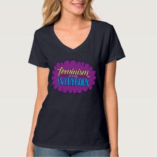 Feminism is for Everybody Navy V-Neck T-Shirt