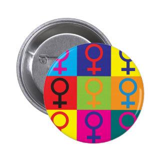 Feminism Pop Art 6 Cm Round Badge