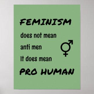 Feminism pro human inspiring quote poster
