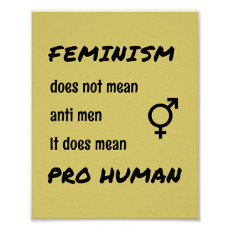 Feminism quote pro human typographic poster