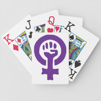 Feminism Symbol Bicycle Playing Cards
