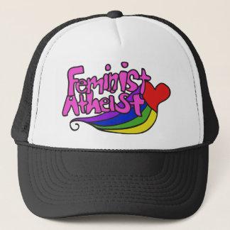 Feminist atheist trucker hat