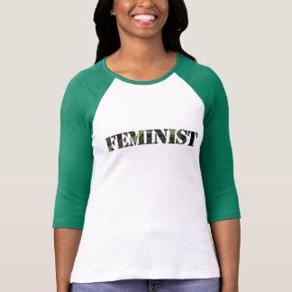 Feminist camo t shirt
