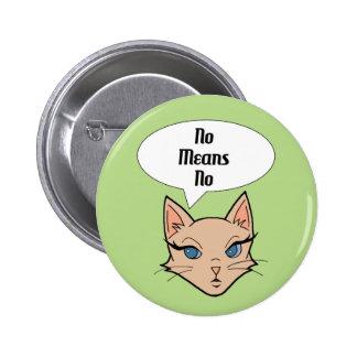 Feminist Cat Cartoon Illustration 6 Cm Round Badge