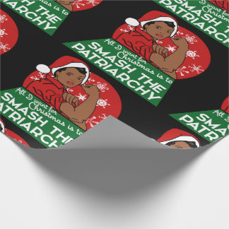 Feminist christmas wrapping paper