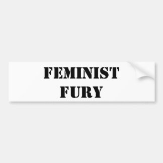 Feminist Fury Bumpersticker Bumper Sticker