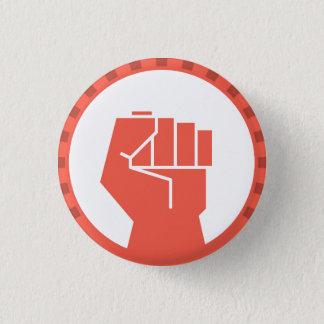 feminist girl power raised fist round button