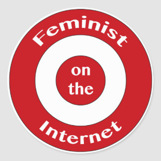 Feminist on the Internet (target) Stickers