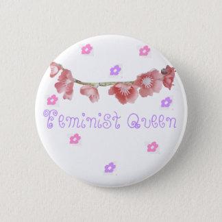 feminist queen (◕‿◕✿) 6 cm round badge
