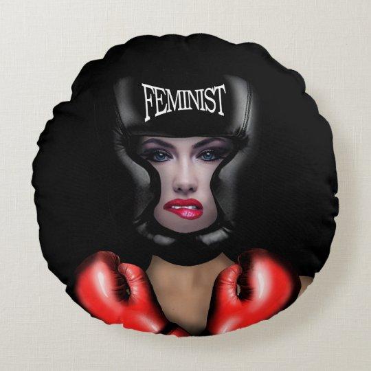 Feminist Round Cushion