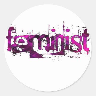 Feminist Round Sticker