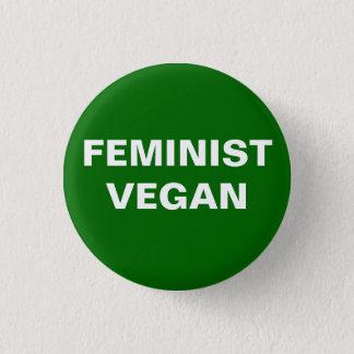 Feminist Vegan Button
