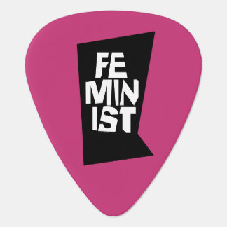 Feminist women female girl me too equal woman plectrum