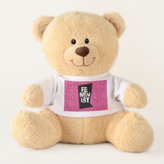 Feminist women female girl me too equal woman teddy bear
