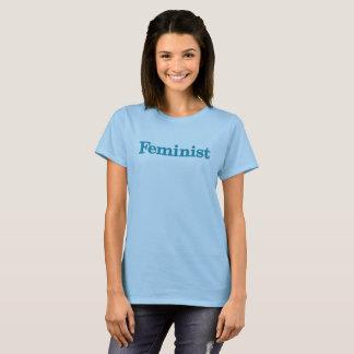 Feminist Womens shirt - blue