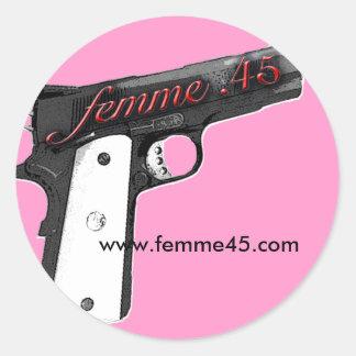 Femme .45 Promo Sticker Pink