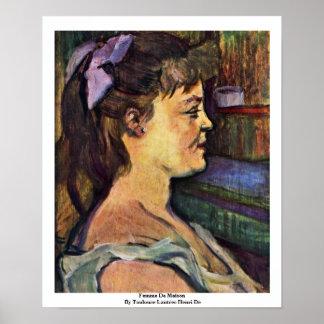 Femme De Maison By Toulouse-Lautrec Henri De Poster