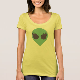 Femme Eyelashed Alien Head Tee