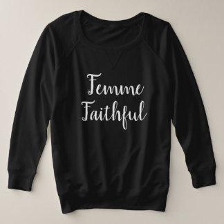 Femme Faithful Plus Size Sweatshirt