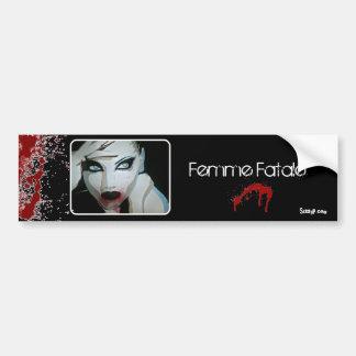 'Femme Fatale' Bumper Sticker Car Bumper Sticker