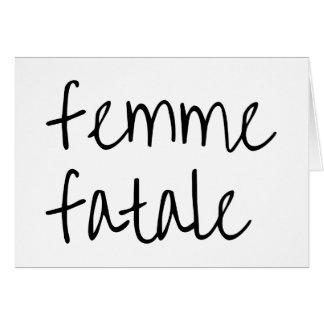 femme fatale card