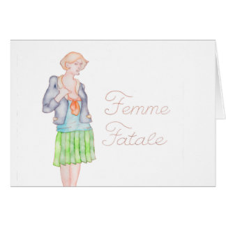 Femme Fatale greeting card/note Card