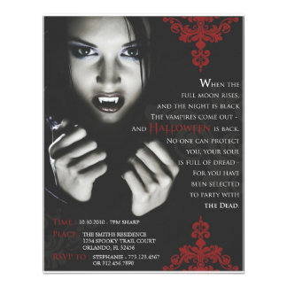 Femme Fatale Halloween Party Invite