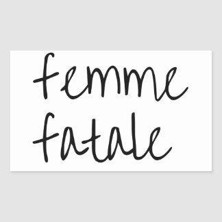 femme fatale rectangular sticker