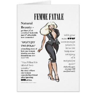 Femme Fatale Women's Card