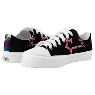Femme Queen Black Printed Shoes