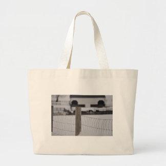 fence and farm jumbo tote bag
