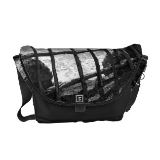 Fence and ocean commuter bag