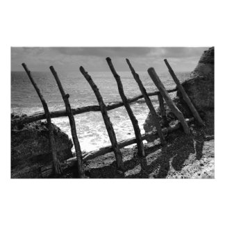 Fence and ocean custom stationery