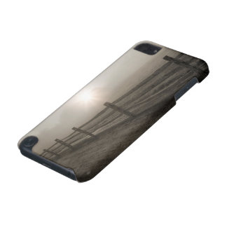 Fence and Sunburst Through Fog near Sharon iPod Touch (5th Generation) Case