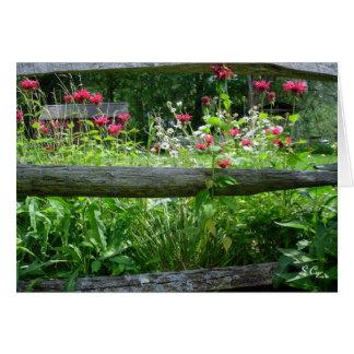 Fence Flowers, S Cyr Card