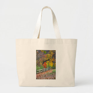 Fence in the Park Large Tote Bag