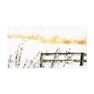 Fence in the Snow art Gallery Wrap Canvas
