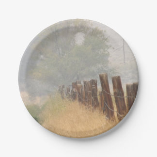 Fence Line 7 Inch Paper Plate