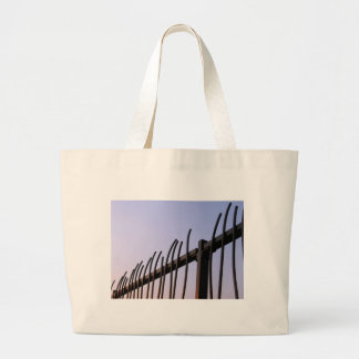 Fence of Steel Tote Bags
