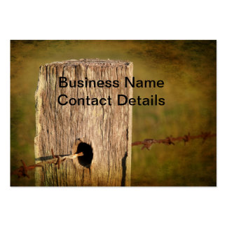 Fence Post and Barbed Wire Business Cards
