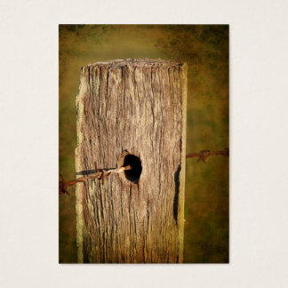 Fence Post and Barbed Wire Business Card