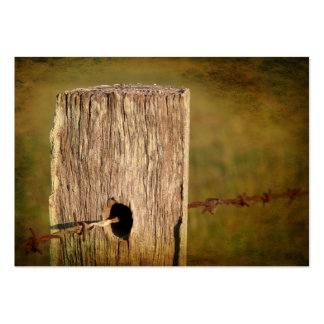 Fence Post and Barbed Wire Business Card Template