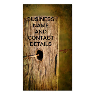 Fence Post and Barbed Wire Pack Of Standard Business Cards
