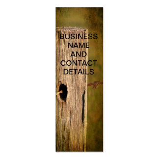 Fence Post and Barbed Wire Pack Of Skinny Business Cards