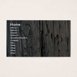 Fence post close-up business card